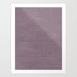 Dusty Pink Concrete Paving Art Print