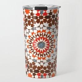 N64 - Traditional Geometric Moroccan Vintage Style Artwork Travel Mug