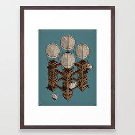 Abandoned Castle in the Sky Framed Art Print