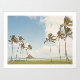 Kualoa Beach - Travel Photography, Oahu Hawaii  Art Print