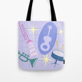 Django Jazz Composition In Purple Tote Bag