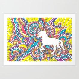 Unicorn Drawing Meditation (color) Art Print