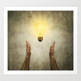 bulb idea Art Print