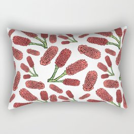 Australian Native Flowers - Decorative Ginger Rectangular Pillow