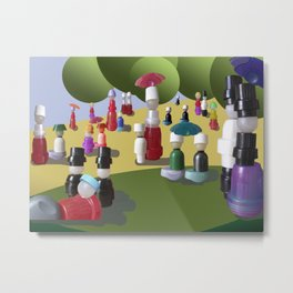A Sunday Afternoon on the Island of La Grande Jatte Metal Print