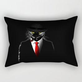 Mobster Cat Rectangular Pillow