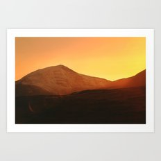 Y Llethr Sunset Art Print