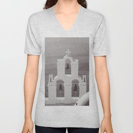 Church in Santorini Unisex V-Neck