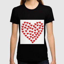 Love Pattern Red Heart / GFTlove001 T-shirt