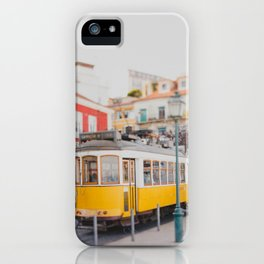 Yellow Tram in Lisbon iPhone Case