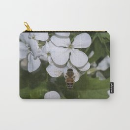 Bee and silver dollar flowers Carry-All Pouch
