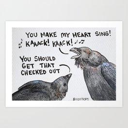 Bird no. 137: Wild Thing Art Print
