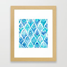 MAGICAL MERBIRD Mermaid Feather Print Framed Art Print