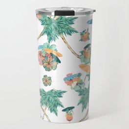 Tropical kitch cocktail pattern Travel Mug
