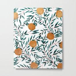 Mandarins Metal Print