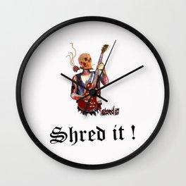 Shred it Skull guitar player  Wall Clock
