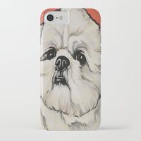 shih tzu iPhone & iPod Cases featuring Waffles the Shih Tzu by Cheney Beshara