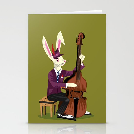 The Jazz Bunny Stationery Cards
