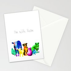 I'm With Them - Animal Rights - Vegan Stationery Cards