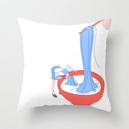 49: ramen Throw Pillow