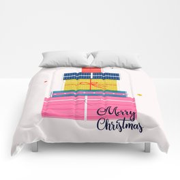 Pile of christmas presents Comforters