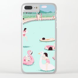 Water fun Clear iPhone Case