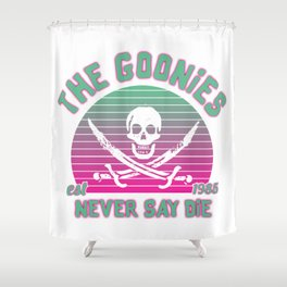 The Goonies Never Say Die Shower Curtain