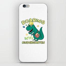 Roaring Into Kindergarten iPhone Skin