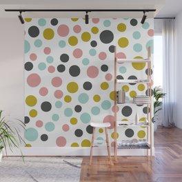 Pastel Polka Dots Wall Mural