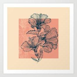 Hibiscus Colors Art Print