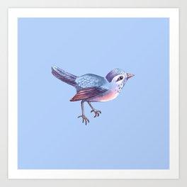 Songbird, Soft Blue Art Print
