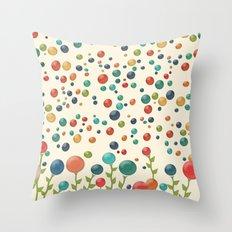 The Gum Drop Garden Throw Pillow