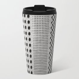 Digital Brushed Steel Industrial Graphic Travel Mug