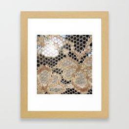 Lace Curtain 2 Framed Art Print