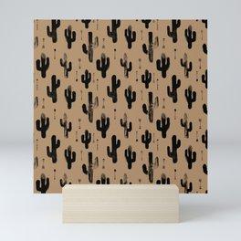 Cactus Desert terra cotta Monochrome winter Stone Pattern Design Kids Boys Mini Art Print