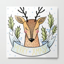 Merry Xmas Metal Print