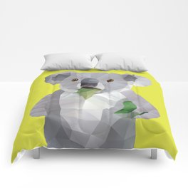 Koala with Koalafication Polygon Art Comforters
