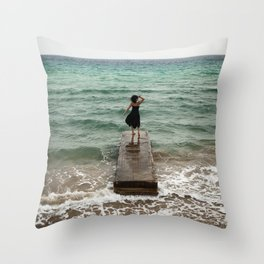 The Woman And The Sea Throw Pillow