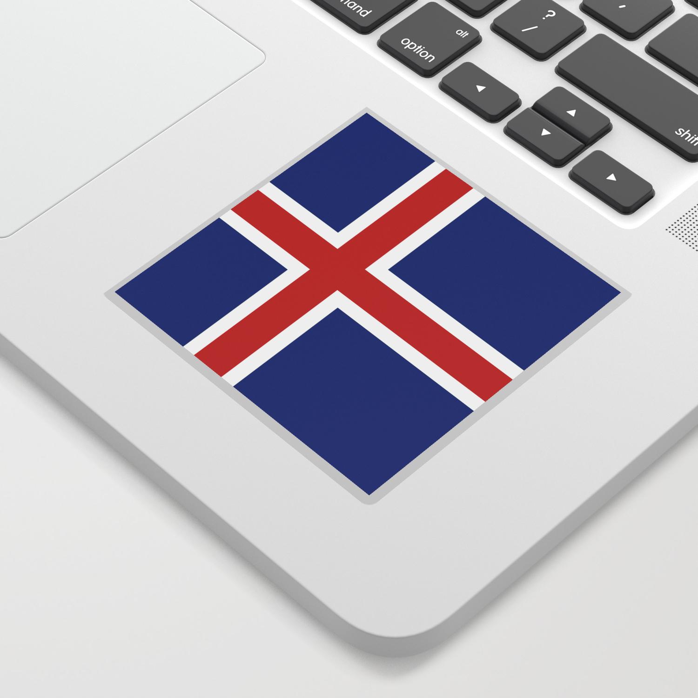 Flag iceland sticker