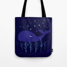 Whale Night Tote Bag