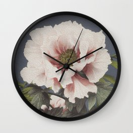 Digital oil painting of a peony flower Wall Clock