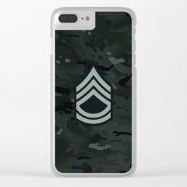 Sergeant First Class (Urban Camo) Clear iPhone Case