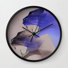 Geometric Cats Wall Clock
