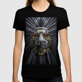 Hear Me Roar / 3D render of serious metallic robot lion T-shirt