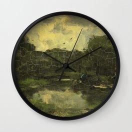 Jacob Maris - Landschap met schuit Wall Clock