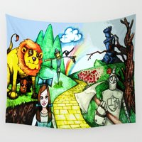 oz Wall Tapestries featuring OZ by Jamie Clayton