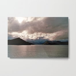 Fjord Beauty: On the Way from NZ's South o the North Metal Print