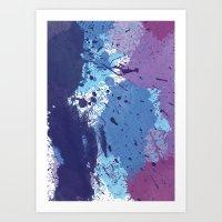 splatter Art Prints featuring Splatter by initiale