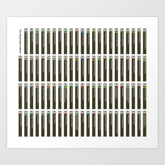 Washington Metro Pylons Art Print