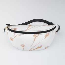 Delicate Blossom Pink + Gold Glitter Fanny Pack